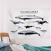 러프 패브릭포스터 고래도감 150x130
