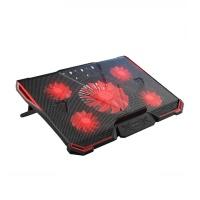 위즈플랫 노트북 쿨러 거치대 NCP-500C (5개 쿨링팬 / 7단계 높이조절 / RED LED)