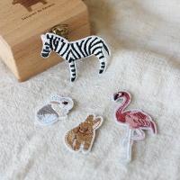 [콩지] 동물 자수 와펜