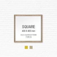 [골드원목프레임] 골드 액자 Type B - 정사각형 40X40