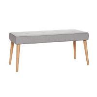 [Hubsch]Bench, wooden legs, fabric, grey 109003 벤치