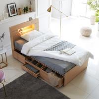 [노하우] 샤이 LED 헤드수납 서랍형 침대 SS