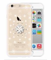 i-phone 6 Clear White blossoms(SWAROVSKI)