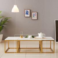 [보루네오 하우스] 아르메 리얼스톤 대리석 소파 테이블(대)