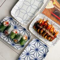 일본식기 에도야키 둥근 사각접시