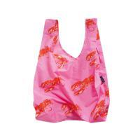 [바쿠백] 휴대용 장바구니 시장가방 Pink Lobster