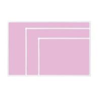 [두문] 더슬림자석보드 핑크 470x345mm