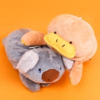 오리너구리 코알라 동물 필통 봉제 캐릭터 파우치