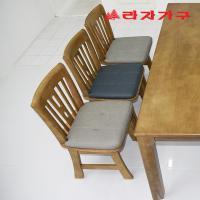 두라스 고무나무 원목 식탁 의자