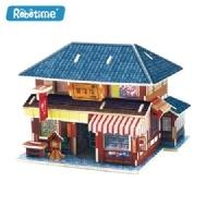 로보타임 목재3D퍼즐 글로벌하우스 일본 과자점 F123
