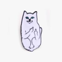 [인디고샵] 인성 안좋은 고양이 금속 뱃지