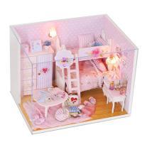 [adico]DIY 미니이처 하우스 - 핑크 걸 하우스