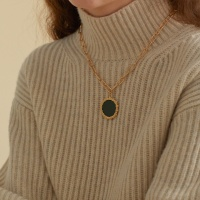 shining gold necklace_2color