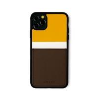 스매스 아이폰11프로 맥스 보호 카드케이스 씨원_옐로우/브라운