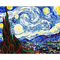 DIY 명화그리기 - DIY 별이빛나는밤에 (G192) 40x50 그림 (유화/그림그리기/직접그리기/아크릴/취미/색칠)