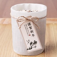 송학도 근하신년 직사각 [텍] (10개)  (설날 포장용품)