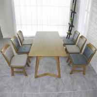 맬린 6인 원목 식탁 세트(의자형)