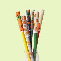핑크풋 당근 패턴 연필캡 6p
