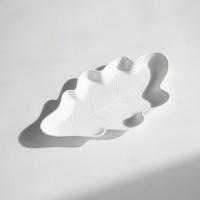 오크잎접시S 벌크팩-25P (친환경생분해접시 / 플러스네이처Oak Leaf)