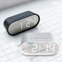 거울 알람 LED 시계 탁상시계 온도계 LLC-P01 라운드