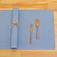 솔리드해지 방수식탁매트(블루)