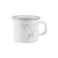 [Muurla]Enamel mug 250ml Reindeer white 1310-025-09