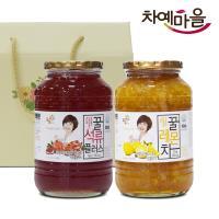 차예마을 석류 레몬 차 꿀 과일 청 2종 선물세트