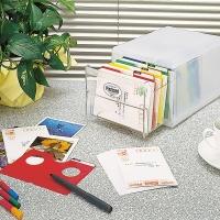 엽서,카드,사진 등 800장 칸칸수납함...나카바야시 포스트카드 박스 PHH-101CM