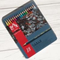 [CARAN DACHE] 까렌다쉬 전문가용 유성색연필 파블로 메탈케이스 18색 666.318