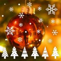제제데코 크리스마스 눈꽃 스티커 장식 CMS4J245