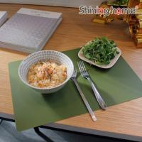 베이직그린 실리콘 식탁매트 1P