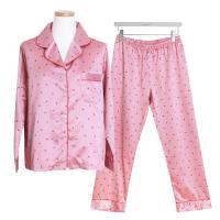 [쿠비카]샤무즈 하트 프린팅 투피스 여성잠옷 W384