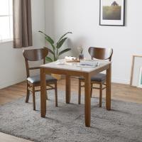에이버 2인용 대리석 식탁세트(의자2개포함)