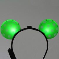 LED점등 미키머리띠 (그린)