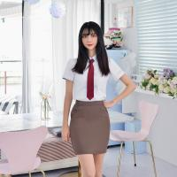 [하복][허리조절] 스판 코코아 교복치마 교복 스커트