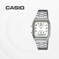카시오 아날로그 전자 메탈 커플 손목시계 AQ-230A-7B