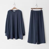 [Set] Gimo Flare Long Tee + Wide Pants