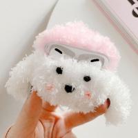 에어팟프로 강아지 인형 뜨개 케이스_핑크모자325/PRO