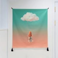 구름 일러스트 패브릭 포스터 / 가리개 커튼
