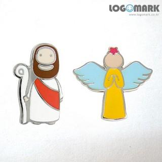 예수님과천사 뱃지