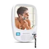 휴라이즈 블루투스 샤워 스피커 HR-MR1000 (IPX4 방수등급 / 벽걸이 밀착형 미러 / LED 조명)