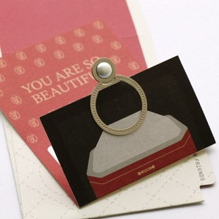 진주 반지 - 책갈피 카드