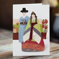 카드/축하카드/감사카드/연하장 백년가약 한복카드 FT224-2