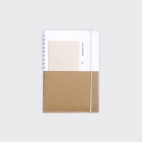 Half Diary S - White / Yellow ocher