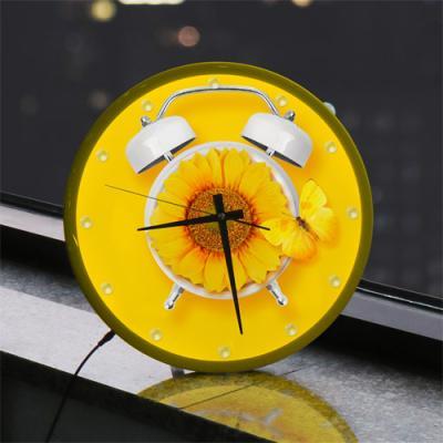 ng030-LED시계액자35R_해바라기꽃향기