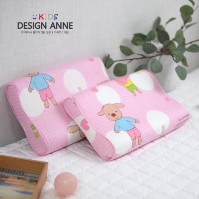 [디자인엔] 순면 앙팡 아동메모리폼베개-핑크