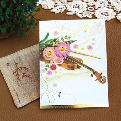 꽃과 바이올린카드 FT1039-1