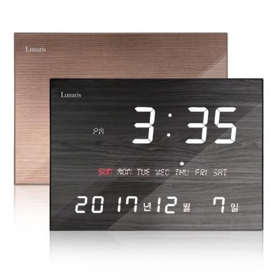 루나리스 FM수신 LED 디지털 전자벽시계 JS-i35