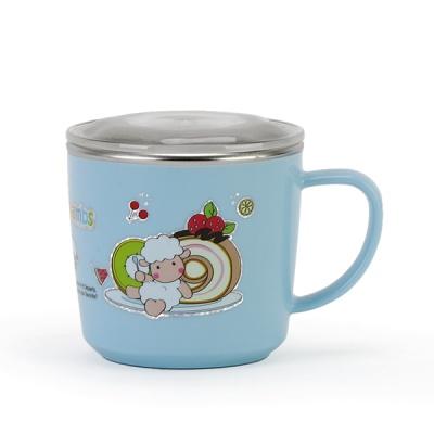 해피램 유아 스텐 머그컵(소-블루)
