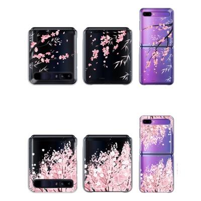 갤럭시 Z플립 투명 하드케이스 벚꽃 스트랩홀